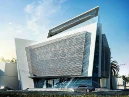 design of office building. facades trade design of office building d
