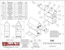 Cat House Build Plans and Instructions Drawing   Pets   Pinterest    Cat House Build Plans and Instructions Drawing   Pets   Pinterest   Cat Houses  Home Floor Plans and House