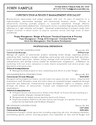 construction manager resume sample template construction resume resume for construction worker or laborer construction cover letter construction superintendent resume templates general contractor resume