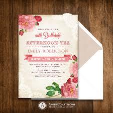 adult birthday invitations printable birthday tea party 🔎zoom