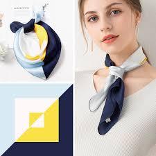 2021 Hangzhou Silk <b>Square Scarf</b> Bag Bandana <b>53*53cm</b> 100 ...