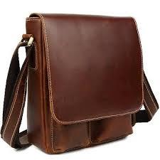 <b>New Genuine Leather Men</b> Shoulder Messenger Crossbody Sling ...