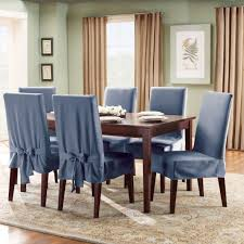 Fabric Dining Room Chair Covers Blue Dining Room Chair Covers Dining Chairs Design Ideas