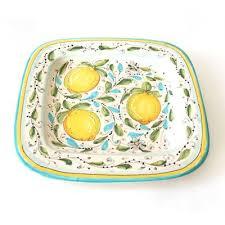 Square <b>Limoni</b> Platter - Emilia Ceramics | domino.com | Handmade ...