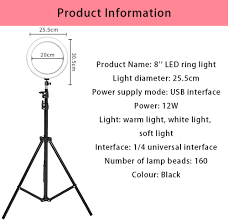 10'' 26CM <b>Photography LED Selfie</b> Ring Light three speed cold and ...