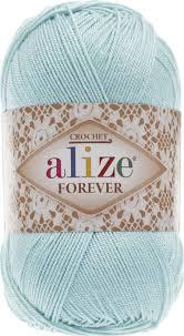 <b>Пряжа</b> Alize Forever Crochet, 367022_501, мятный, 50 г, 300 м, 5 шт