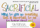 sacrificially