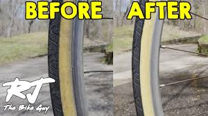 Cleaning Gumwall & Whitewall <b>Bike Tires</b> - YouTube