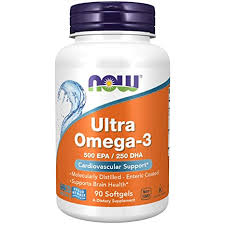 Now Foods <b>Ultra Omega-3 Fish Oil</b> (Non-GMO, Gluten Free, Dairy ...