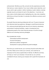 how to write a professional summary for your resume    your professional    achievements