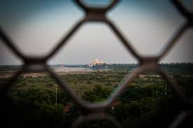 exploring mughal ing the taj mahal agra fort view of taj mahal from agra fort