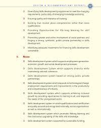 national skill mission raghunandan sharma s recommondations for national skill mission is as follows