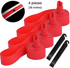 <b>2Pcs Bicycle</b> Red <b>Tire Liner</b> Anti Puncture Tape <b>Bike</b> Inner Tube Pad ...