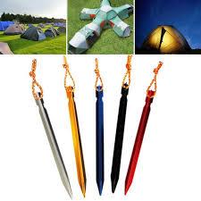 2019 Aluminium Alloy <b>Tent</b> Peg <b>Nail Stake</b> With Rope <b>Camping</b> ...