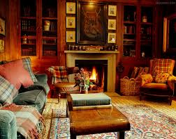 Lodge Living Room Decor Tartan Plaids In Ward Denton Home In Scotland In A Cabin In The