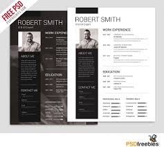 download free    best free resume   cv templates psd at    simple and clean resume free psd template