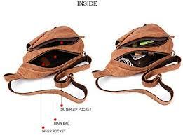 <b>JOYIR Genuine Leather</b> Crossbody Bag <b>Men's</b> Sling Bag Vintage ...
