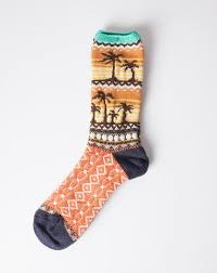 Kapital <b>Nordic Palm Tree</b> Socks in Yellow | Wishlist | Socks, Palm ...