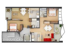 Two  quot   quot  Bedroom Apartment House Plans   Architecture  amp  Design  Modern Two Bedroom Walkup