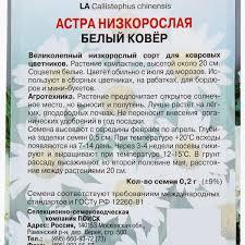 <b>Астра</b> низкорослая «<b>Белый ковер</b>» в Москве – купить по низкой ...