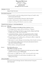 Aaaaeroincus Unusual Resume Sample Master Cake Decorator With Entrancing Training Manager Resume Besides Underwriter Resume Furthermore Resume Update With