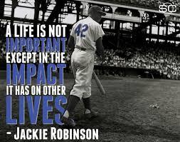 Jackie Robinson quote | Jackie Robinson | Pinterest | Jackie ... via Relatably.com