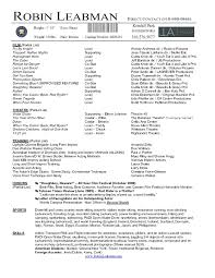theatre resume template word cipanewsletter acting resume samples and examples ace your audition actor