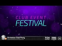 <b>Christmas Club Party</b> (After Effects Template) AE Templates - YouTube