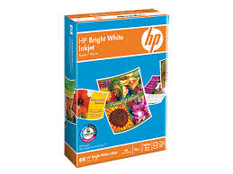 <b>HP Bright White Inkjet</b> Paper-500 sht/A4/210 x 297 mm(C1825A ...