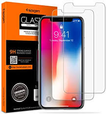 Spigen <b>Tempered Glass for</b> Apple iPhone Xs (2018) / X (2017) (2 ...