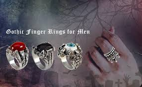 Buy Sarah Punk <b>Mechanical Skull</b> Finger Ring for Men - Silver at ...