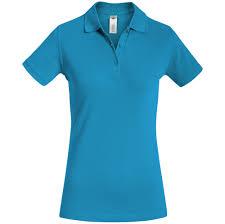 <b>Рубашка поло женская Safran</b> Timeless бирюзовая (артикул ...
