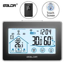 <b>Baldr Wireless Weather Station</b> Touch Screen Thermometer ...