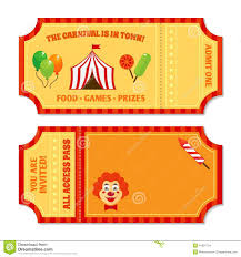 circus tickets template stock vector image  circus tickets template