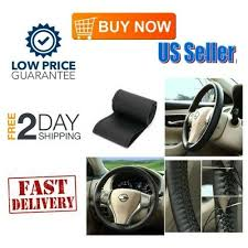 Universal Faux Leather <b>Car Steering Wheel Cover</b> with Needle Thread