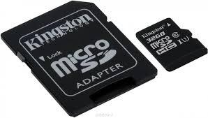 <b>Карта памяти Micro</b> SDHC 32GB Class 10 Kingston + <b>адаптер</b> ...