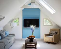 attic living room design youtube: view in gallery cozy small attic living space design b fein interiors