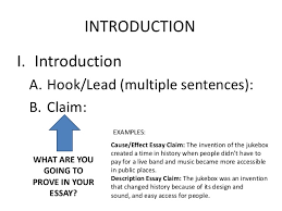 informational essay leads claims subheading outline informational essay leads claims subheading outline introduction i introduction a hooklead multiple sentences b