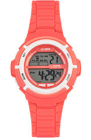 <b>Ladies</b> Watch <b>LEE COOPER Originals</b> Digital Coral Rubber Strap ...