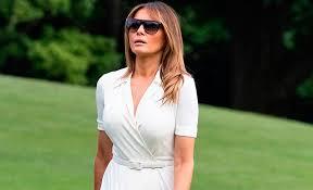 Чистописание: три новых образа Мелании Трамп в белом цвете ...