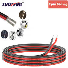 <b>2pin Extension Cable Wire</b> Cord 18awg Silicone Electrical Wire ...