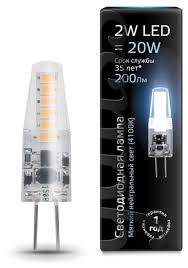 <b>Лампа светодиодная</b> gauss 107707202, <b>G4</b>, JC, <b>2Вт</b> — купить по ...