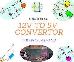 <b>12V</b> to <b>5V converter</b> | Step down <b>DC</b> regulator in many ways to do