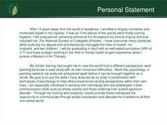 How to write a personal statement for graduate school in counseling Timmins Martelle