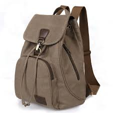 <b>Women Canvas</b> Bagpack Softback Solid Bag Fashion Soft Handle ...