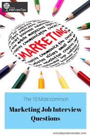 images about interview tips questions answers on top 15 marketing job interview questions everydayinterviewtips com