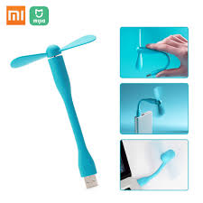 Heat Fan <b>Original Xiaomi Mi</b> USB Fan Flexible Mini Silence Fan For ...