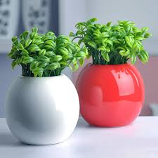 2015 new style brauty 10pcs bean sprout artificial fake plant plastic potted home office table desk decor 8cdb artificial plants for office decor
