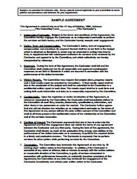agreement contract free download create edit fill and print free basic resume templates