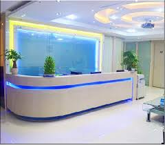 paint stylish minimalist office reception desk cashier welcome counter curved section 88china mainland china ce approved office furniture reception desk